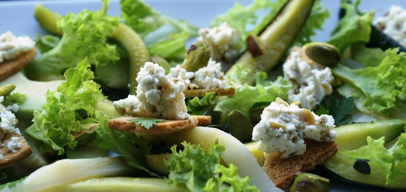 easy green salad, maklike groen slaai, vegetarian salad